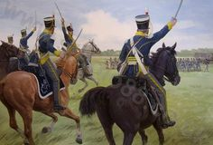 Charge of Lieutenant William Horton's troop of  19th Light Dragoons- July 4, 1814 at Street's Creek a mile or so south of the Chippawa River, Upper Canada. From: Osprey's Niagara 1814- The Final Invasion by Jon Latimer. Artist- Graham Turner- 2009