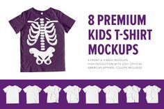 8 Premium Kid's T-Shirt Mockups by Pixel Sauce on @creativemarket