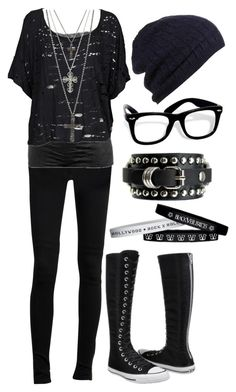 """Untitled #327"" by botdfbvbrevenge ❤ liked on Polyvore featuring C.R.A.F.T., Wet Seal, Stussy, Converse and GUESS"