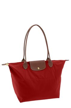 """""""THE RED TOTE"""" Longchamp 'Le Pliage - Large' Tote Bag"""