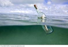 Message in a bottle. Put a note in a bottle with both names and the date of the wedding and after I dos toss it into the ocean