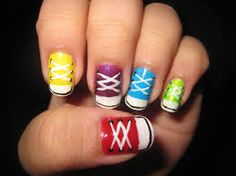 converse nail art - Google Search