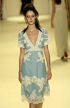 .Love the colors - I'd make one with just the neck/waist lace, not all of the embellishment.