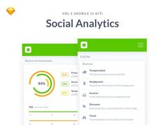 Mobile Social Analytics Dashboards by Pierluigi Giglio Dashboard Mobile, Analytics Dashboard, Mobile Ui, Ui Kit, Google Material, Web Design, Free Web Fonts, Wordpress Theme Design, Website Template