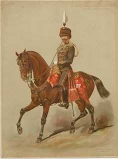 10th Prince of Wales's Own Royal Hussars :  officer, review order.   Legras, Auguste, 1817-1887