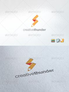 Creative Thunder by enio Clear Vector Logo Could be used for businesses and needs, easy to edit and made any change you may want EPS version included. nam