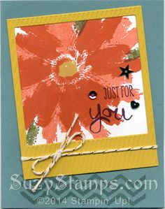 Stampin' Up! Cards - Work of Art stamp set, On Film Framelits Dies