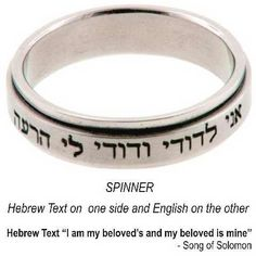 Forgiven Jewelry 237153 Ring Purity I Am My Beloveds Hebrew Spinner Size 9 * Check out @ http://www.amazon.com/gp/product/B00TUCKPQS/?tag=finejewelry4u.com-20&pjk=110716070437