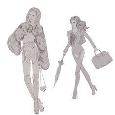 Fashion sketches www.kellythompson.co.nz