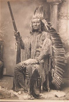 Osage Indian Chief Believed to be Black Dog from 1880