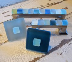 Thinking DYI for bath  Drawer Pulls Beach Decor Glass Cabinet Knobs Two. $23.50, via Etsy.