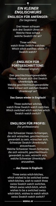 Ein kleiner Englischkurs - New Ideas Funny Cute, Hilarious, Man Humor, True Words, Good To Know, True Stories, I Laughed, Fun Facts, Funny Memes