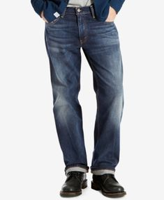 Levi's 569 Loose Straight Fit Jeans - Blue 44x30