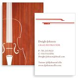 Classical musicians, violinists, violin teachers and anyone with an appreciation for the pure note of the violin can use these cards to express their passion to prospective students or employers. Sleek, elegant and simple, they're an eye-pleasing way to let people know that classical music is in safe hands with you.