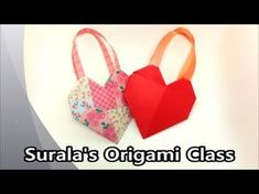 Origami - Heart Bag / 종이접기 - 하트 가방 (선물 포장) - YouTube