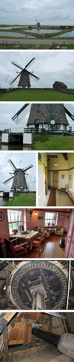Polder mill Het Noorden, Oosterend, Texel, the Netherlands.