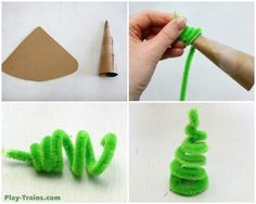 Pipe Cleaner Trees for Wooden Train Layouts @ Play Trains!  Another DIY element we've come up with to add to our toy train set.