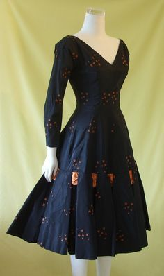 Stunning 1950s Cocktail Dress / 50s Evening by HepCatVintageUK