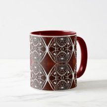 Beautiful White Abstract Pattern Mug