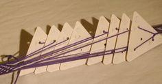 Card Weaving, Tablet Weaving, Inkle Loom, Weaving Patterns, Boro, Knots, Diy And Crafts, Hair Accessories, Sewing