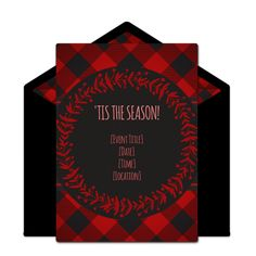 Customizable, free Christmas Flannel online invitations. Easy to personalize and send for a Holiday party. #punchbowl