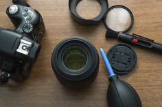 Keep your camera and lenses as clean as possible by protecting them from dust and other elements and using appropriate tools when a cleaning is needed.