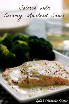 Salmon With Mustard Sauce ~ Food of the World: Canada ~ Lydia's Flexitarian Kitchen
