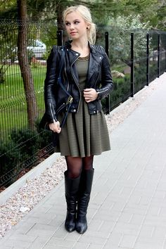 Dress boots and moto jacket
