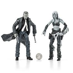 Deluxe action figures from the 2005 movie: Sin City. In glorious black and white!