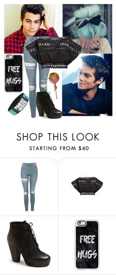 """""""Meeting Dylan O'Brien"""" by scarlet-snow2603 on Polyvore featuring Novo, Topshop, Charo Ruiz, Steve Madden and Casetify"""
