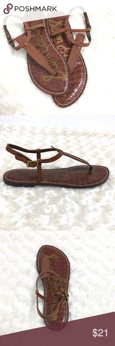 ad64ec6a9 Sam Edelman Gigi Ankle Strap Thong Sandals Gently worn Ankle Strap Thong  style Great for this