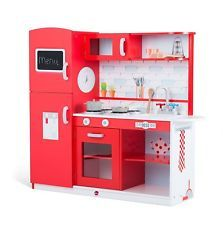 Shop for Plum Terrace Red Apple Wooden Role Play Kitchen. Starting from Compare live & historic toys and game prices. Playhouse Interior, Playhouse Outdoor, Pretend Kitchen, Play Kitchen Sets, Wooden Play Kitchen, Toy Kitchen, Wooden Kitchens, Watermelon Smoothies, Baby Shop Online