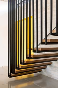 Gallery of Lago Norte House / CoDA arquitetos - 23 Staircase Interior Design, Stair Railing Design, Home Stairs Design, Staircase Railings, Stairways, Staircase Lighting Ideas, Cantilever Stairs, Modern Stairs, Floating Stairs