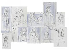 Sketch by Jaime Santibanez Love Drawings, Art Drawings, Female Reference, Dynamic Poses, Draw Something, Drawing Techniques, Painting Tips, Shoujo, Figure Drawing