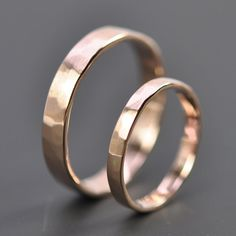 Rose Gold Wedding Band Set, I love the whole rose gold thing