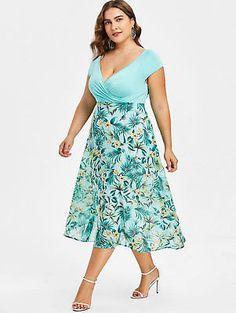 Plus Size dresses – Lady Dress Designs Plus Size Spring Dresses, Plus Size Outfits, Summer Dresses, Summer Fashions, Modest Dresses, Pretty Dresses, Casual Dresses, Pretty Clothes, Floral Dresses