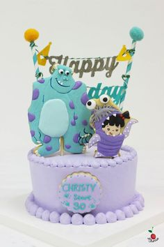 Monsters, Inc. Toy Story Birthday Cake, Birthday Clown, Monster Inc Birthday, Monster 1st Birthdays, Monster Inc Party, 2nd Birthday Parties, Monsters Inc Girl, Monsters Inc Halloween Costumes, Bolo Artificial