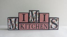 On Sale Now Ready To Ship Wood Block Sign  by ForeverYoursCreation
