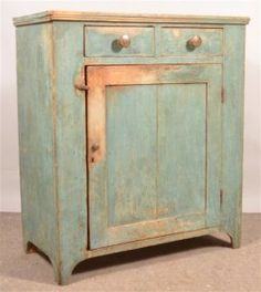 PA Primitive Softwood Jelly Cupboard.