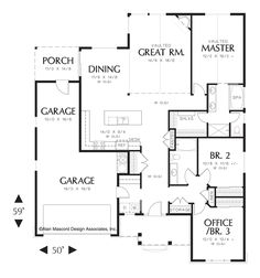 Craftsman Plan with Porch. Plan 1146 The Godfrey is a 1580 SqFt ...