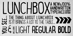 Lunch Box - Webfont & Desktop font « MyFonts