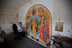 Byzantine iconography Byzantine, North America, Saints, Studio, Painting, Inspiration, Art, Biblical Inspiration, Art Background