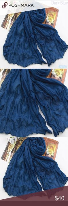 Beautiful Dark Blue Scarf/Shawl Perfect for all seasons! Accessories Scarves & Wraps