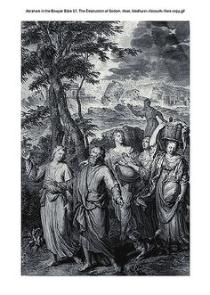 Oliver Medhurst presents Abraham in the Bowyer Bible 57 The Destruction of Sodom Hoet on Flickr.  A print from the Bowyer Bible a grangerised copy of Macklins Bible in Bolton Museum and Archives England. Photograph of a print in the Phillip Medhurst Collection (owned by Philip De Vere) at St. Georges Court Kidderminster.