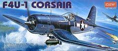 Vought F4U-1 Corsair. Academy, 1/72, injection, No.12457. 8,25 GBP.