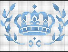 Aí está o gráfico que é  sucesso.  A coroa não é criação minha,  foi retirada na Internet, mas os ramos eu que fiz para atender a um pedido de uma cliente. #pontocruzdadeby