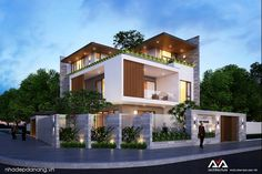 60 Ideas apartment building design architecture for 2019 Bungalow Haus Design, Duplex House Design, House Front Design, Apartment Design, Modern Exterior House Designs, Modern House Design, Style At Home, Building Design, Building A House