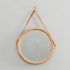 A RATTAN MIRROR, second half of the 20th century.