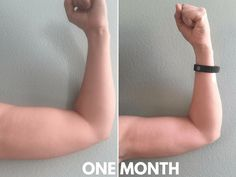 I got rid of my arm flab in just three months and using only 5 pound weights! It only takes 15 minutes, 4 times a week to get toned arms. Get Toned, Toned Arms, Arm Flab, Lose Arm Fat, Flabby Arms, Fitness Competition, Low Impact Workout, I Work Out, Diet Motivation
