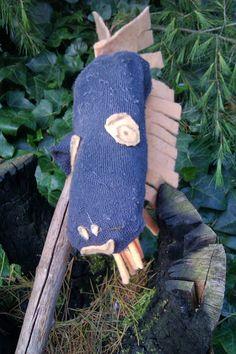 Streitross aus Socke / Horse made from sock / Upcycling
